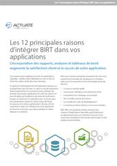 Les 12 principales raisons d'intégrer BIRT dans vos applications