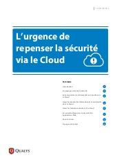 L'urgence de repenser la sécurité via le Cloud