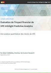 Évaluation de l'impact financier de HPE InfoSight Predictive Analytics