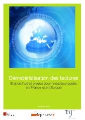 Dématérialisation des factures: Etat de l'art et enjeux pour le secteur public en France et en Europe