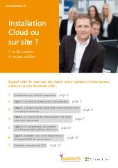 Installation Cloud ou sur site ?