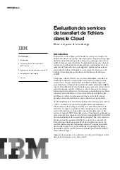 Evaluation des services de transferts de fichiers de le cloud