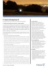 F-Secure DeepGuard : Protection proactive contre les menaces émergentes