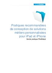 Pratiques recommandées de conception de solutions métiers personnalisées pour iPad et iPhone
