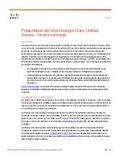 Présentation de la technologie Cisco Unified Access : l'accès convergé