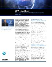 Des serveurs si intelligents qu'ils redéfinissent l'expérience de la maintenance : HP ProLiant Gen8
