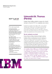 La plate-forme SoftLayer facilite le développement de l'Université St.Thomas