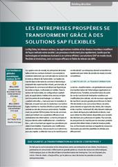 Les entreprises prospères se transforment grâce à des solutions SAP flexibles
