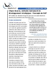 L'Open Source, véritable instrument de développement stratégique : l'exemple de SAP