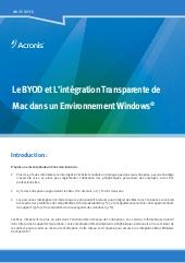 Le BYOD et L'intégration Transparente de  Mac dans un Environnement Windows<sup>®</sup>