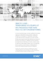 Objectif Cloud : transformer vos équipes et vos processus pour faire face à  ce défi organisationnel