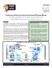 Solution de protection des données Quantum vmPRO pour Vmware