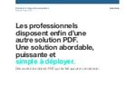 Les professionnels disposent enfin d'une autre solution PDF