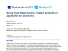 BYOD : vision sécurité et approche de solutions