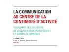 La communication au centre de la continuité d'activité