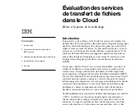 Evaluation des services de transferts de fichiers de le cloud