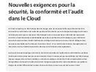 Nouvelles exigences pour la sécurité, la conformité et l'audit dans le Cloud