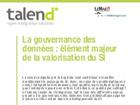 La gouvernance des données : élément majeur de la valorisation du SI
