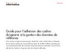 Guide pour l'adhésion des cadres dirigeants à la gestion des données de référence