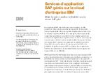 Services d'application SAP gérés sur le cloud d'entreprise IBM