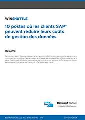 10 postes où les clients SAP peuvent réduire leurs coûts de gestion des données